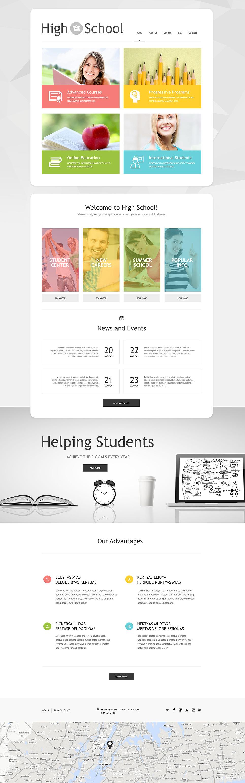 Адаптивный шаблон сайта на тему образование #54937