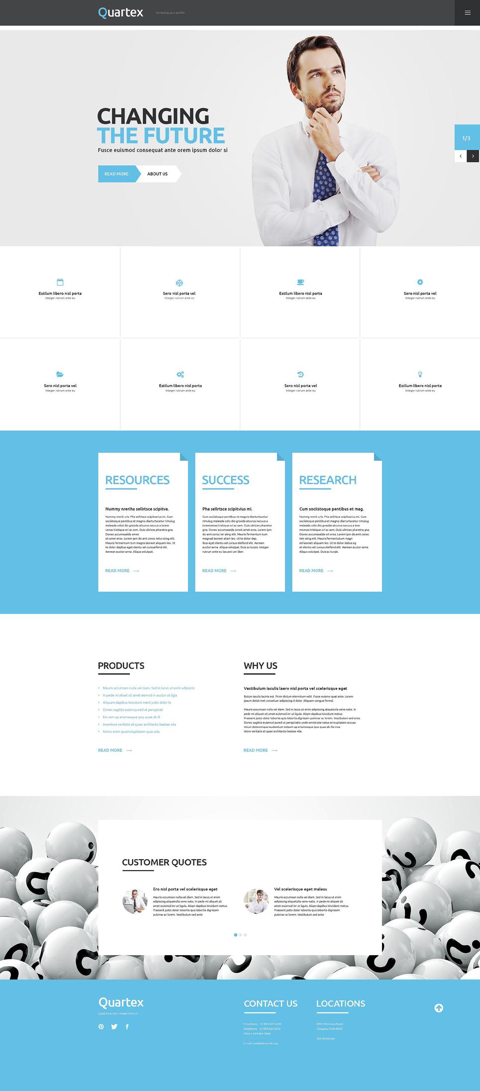 Адаптивный шаблон сайта на тему бизнес и услуги #54941