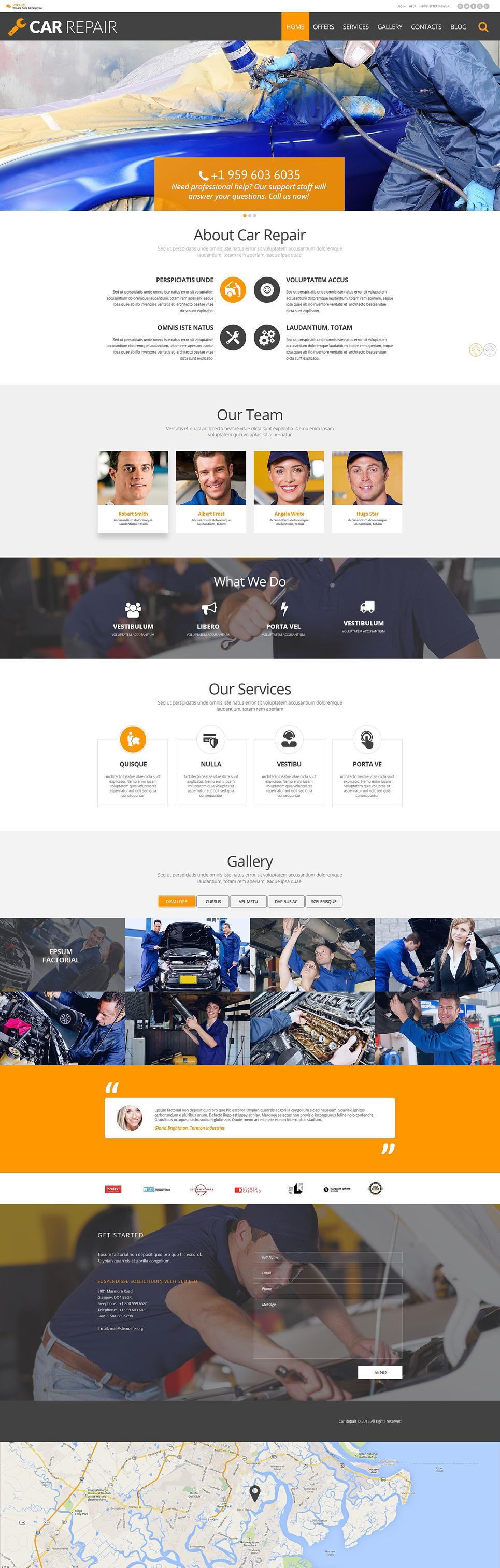 Адаптивный шаблон сайта на тему ремонт авто #54989