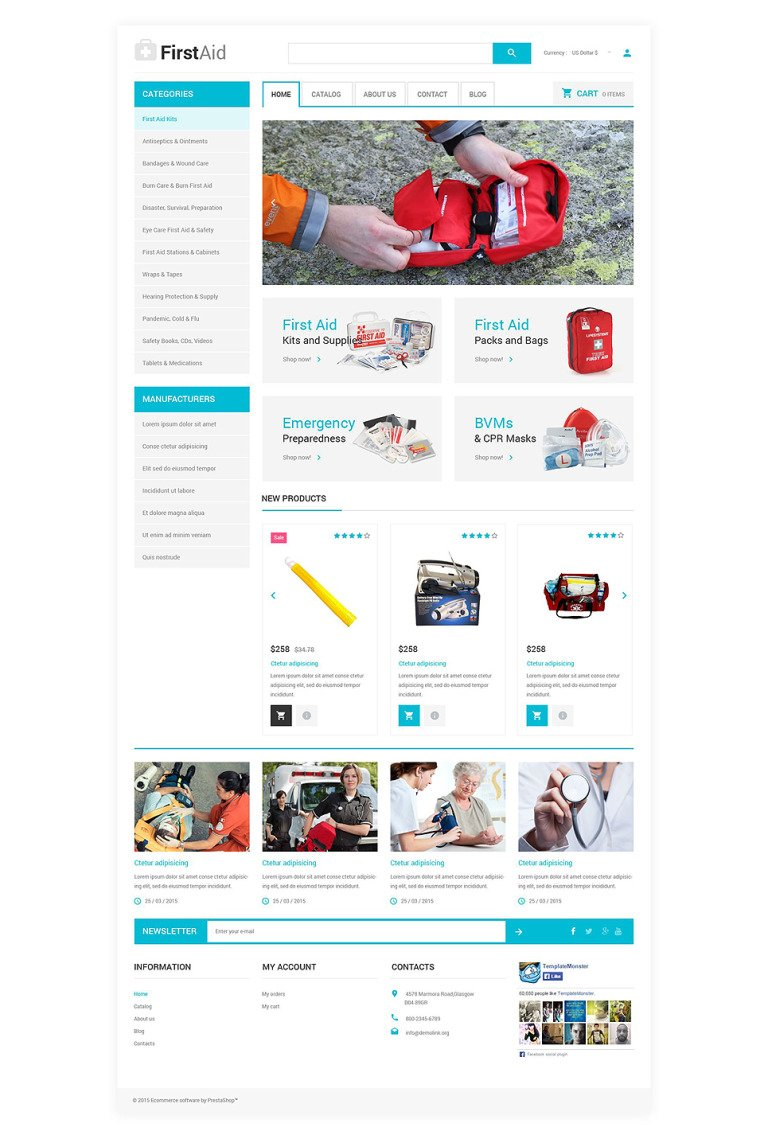 Ambulance Responsive VirtueMart Template New Screenshots BIG
