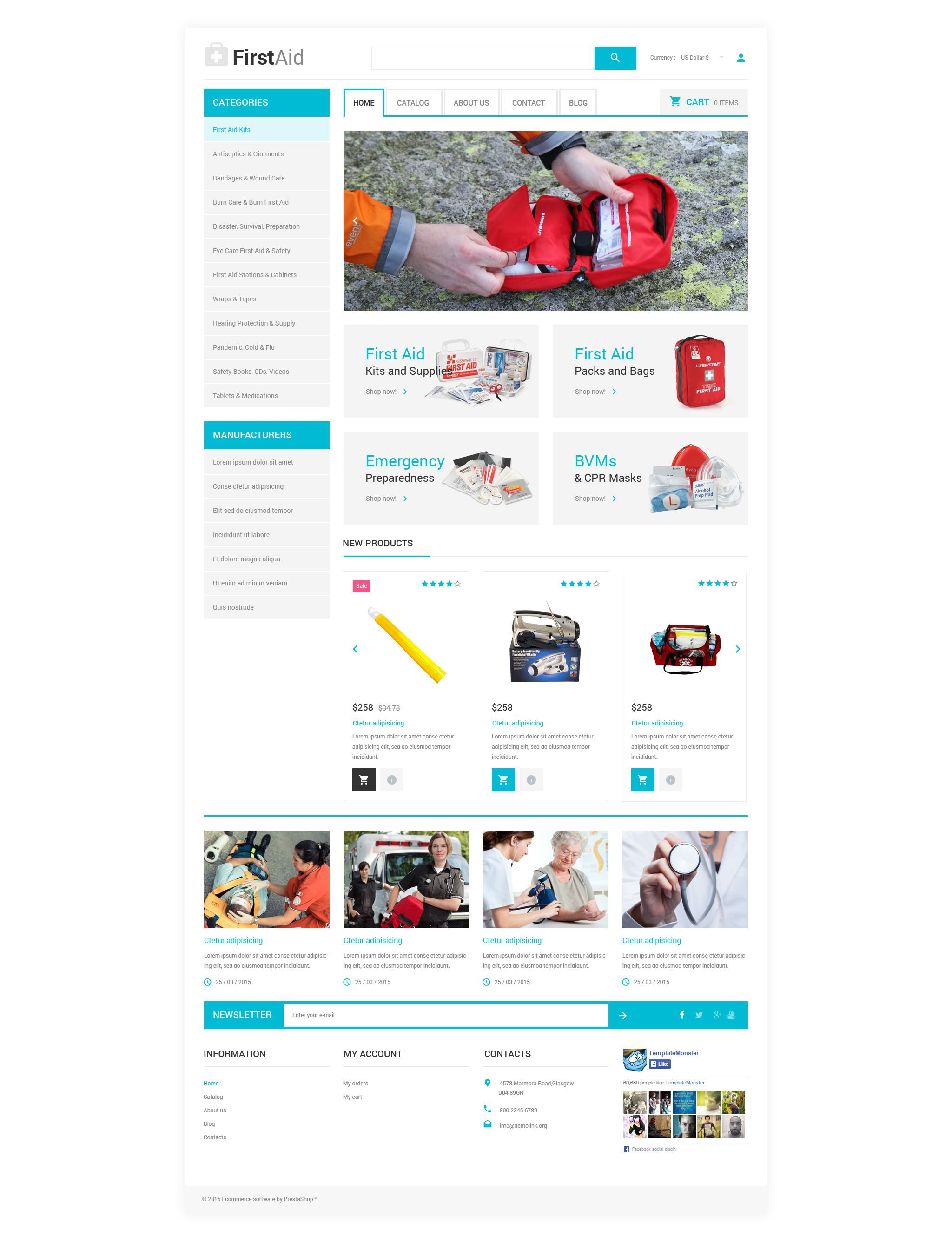 Ambulance VirtueMart Template - screenshot