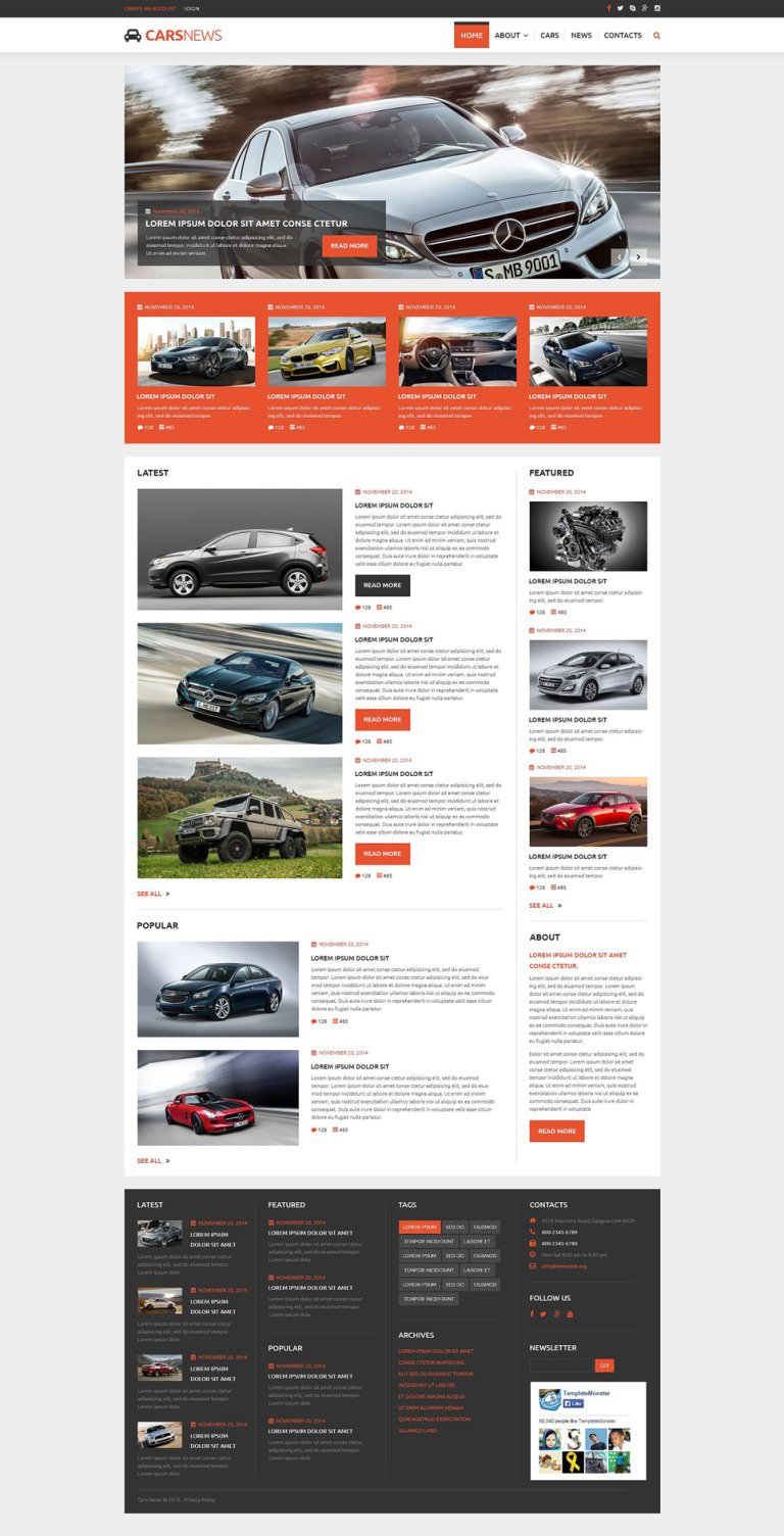 Auto Highlights Joomla Template New Screenshots BIG
