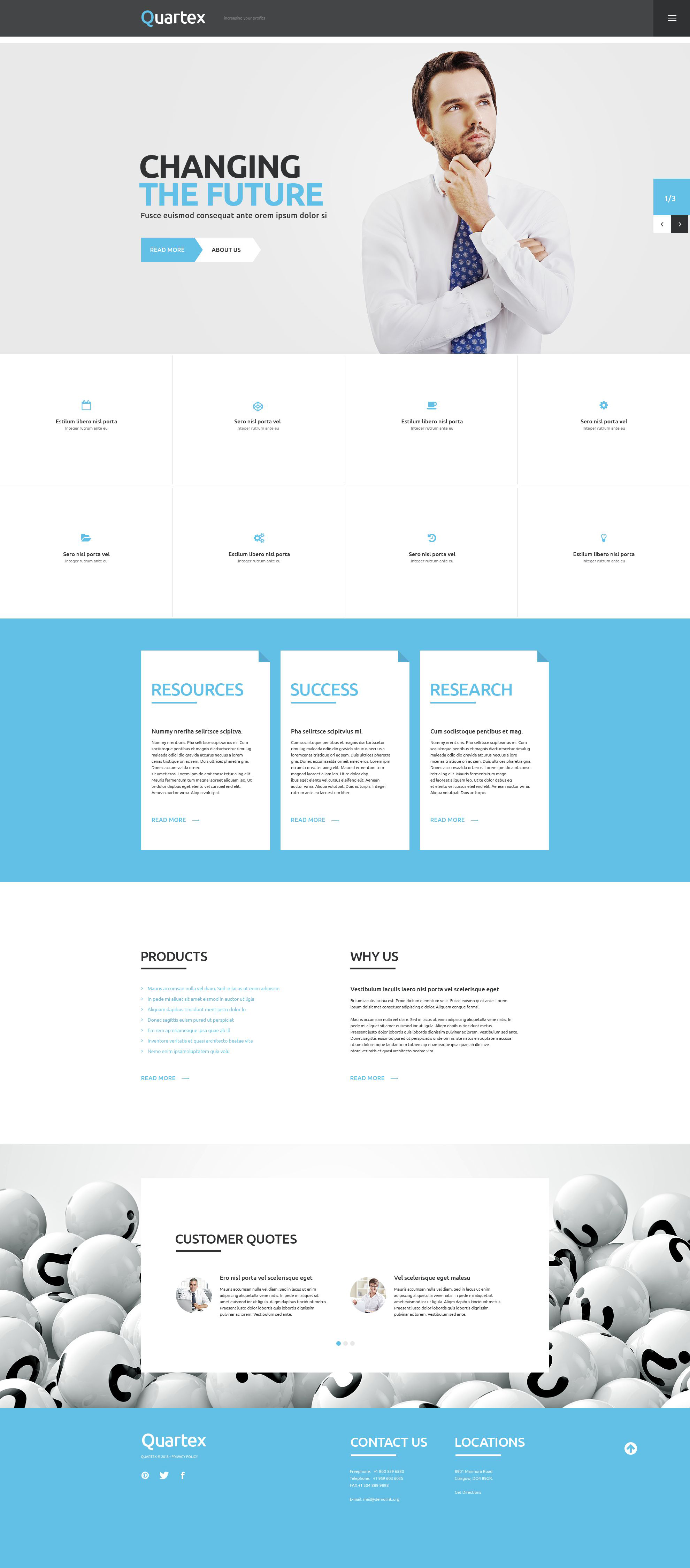 Business & Services Responsive WordPress Theme - screenshot