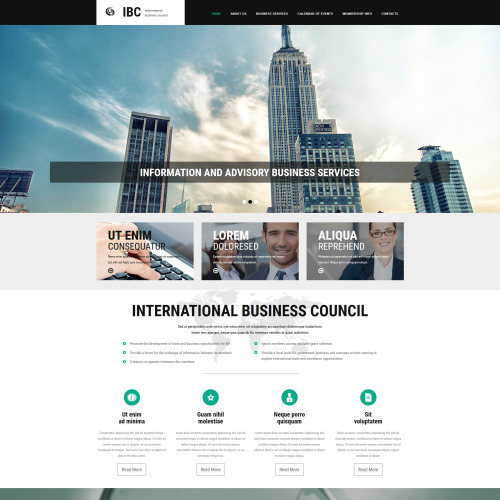 IBC - MotoCMS 3 Template based on Bootstrap