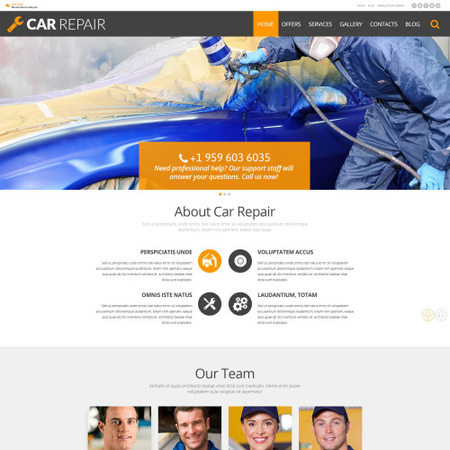 Car Repair - WordPress Template based on Bootstrap