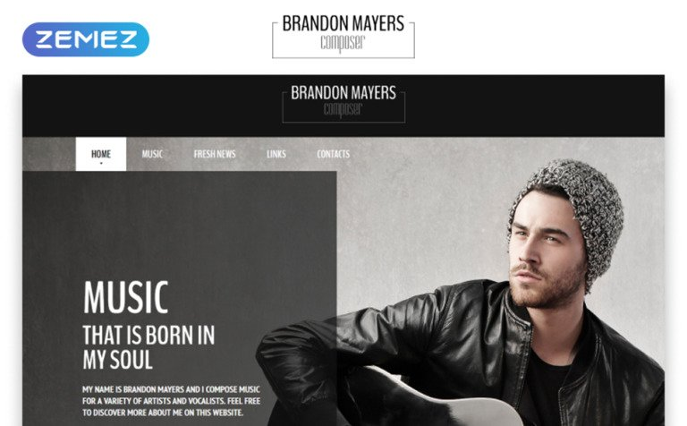 Composer's Portfolio Website Template