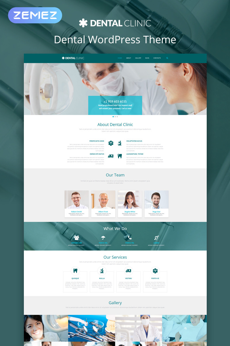 Dental Clinic WordPress Template #54990