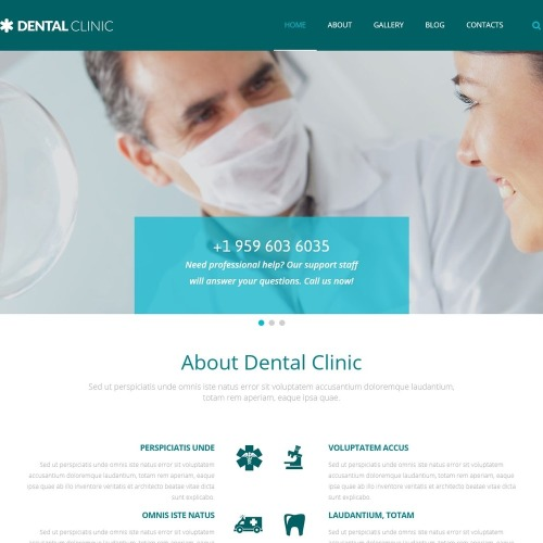 Dental Clinic - WordPress Template based on Bootstrap