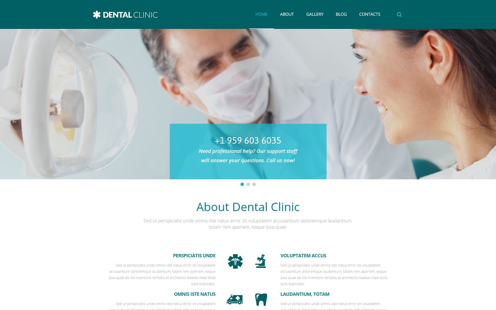 """Dental - Medical Multipurpose Modern Elementor"" 响应式WordPress模板 #54990"
