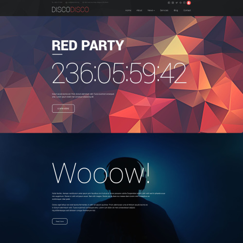 Disco Disco - Responsive Drupal Template
