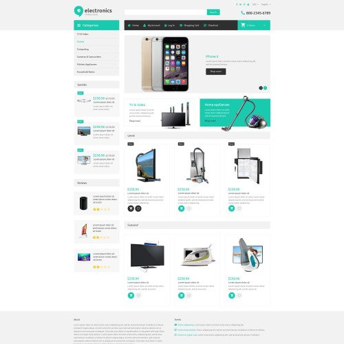 Electronics  - ZenCart Template based on Bootstrap