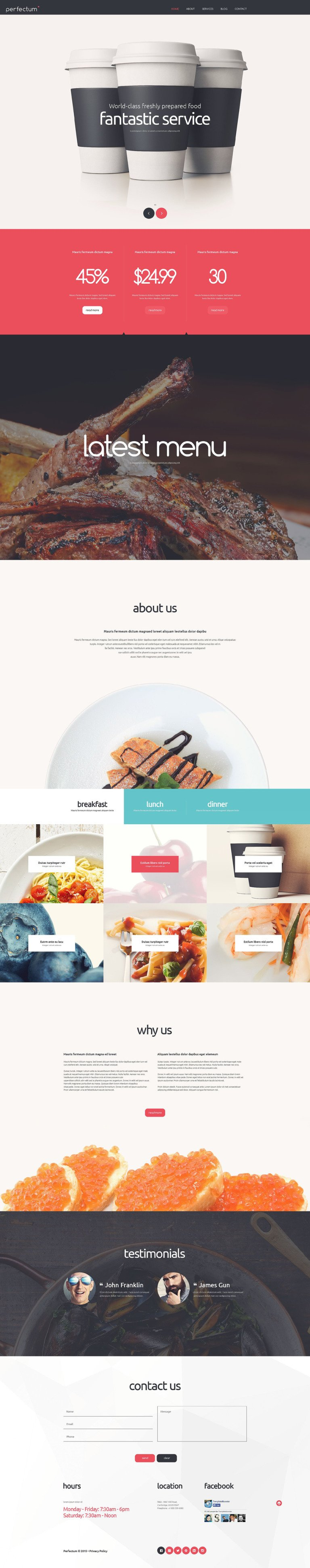 Euporean Restaurant Joomla Template New Screenshots BIG