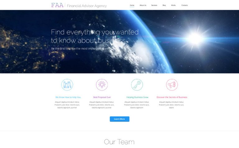 Financial Advisor WP Theme – Best Financial Planning Sites