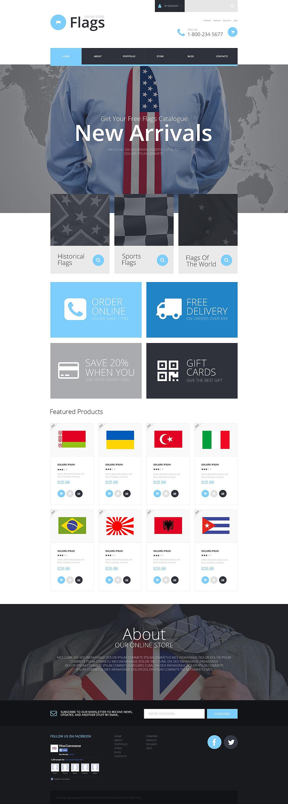 Flag Shop WooCommerce Theme New Screenshots BIG