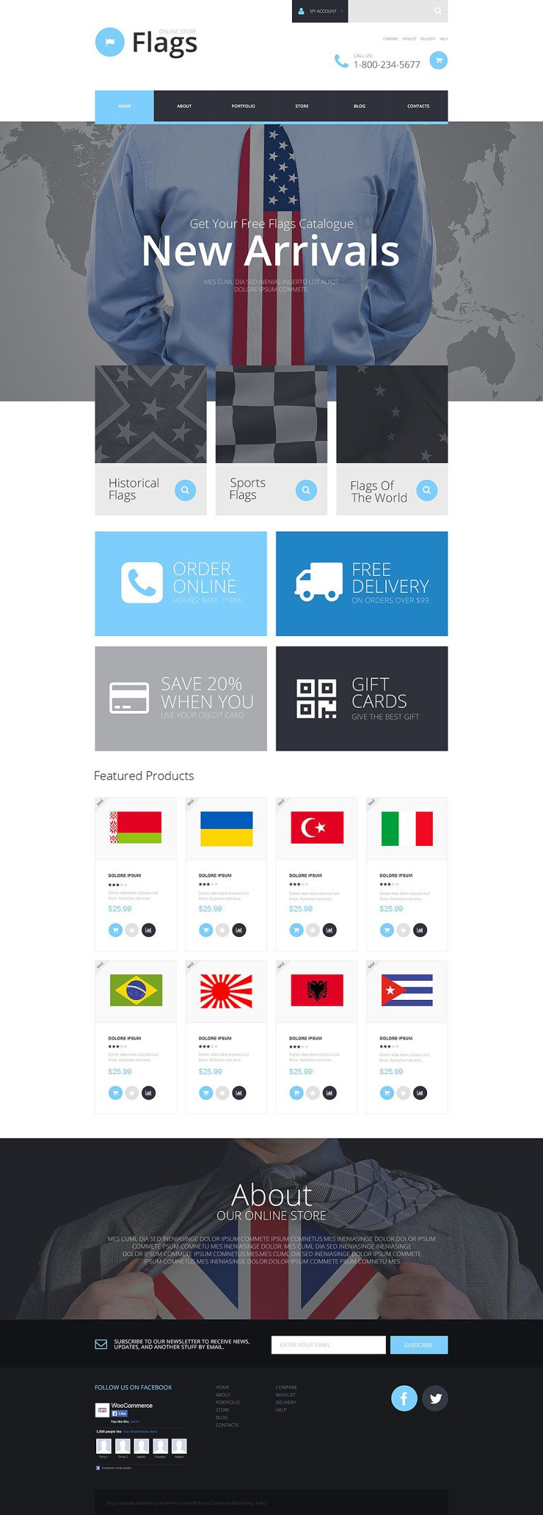 Flag Shop WooCommerce Theme New Screenshots BIG