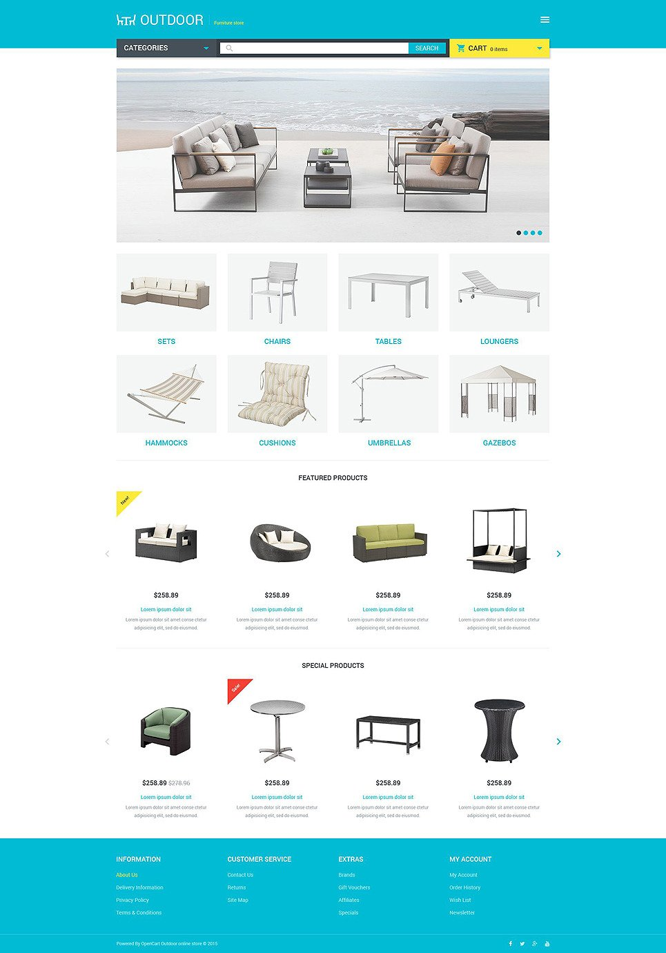 Furniture Responsive OpenCart Template New Screenshots BIG