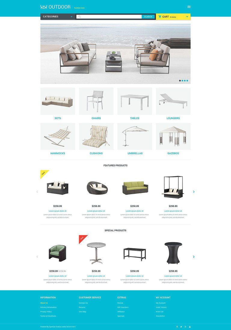 Furniture Responsive OpenCart Template New Screenshots BIG