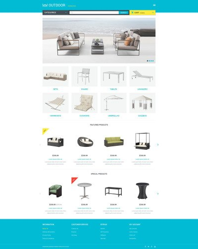 Furniture Responsive OpenCart Template