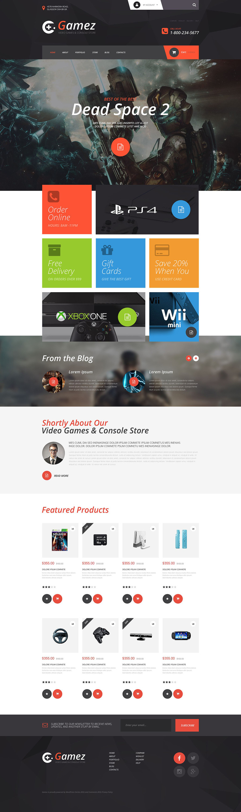 Gamez WooCommerce Theme New Screenshots BIG