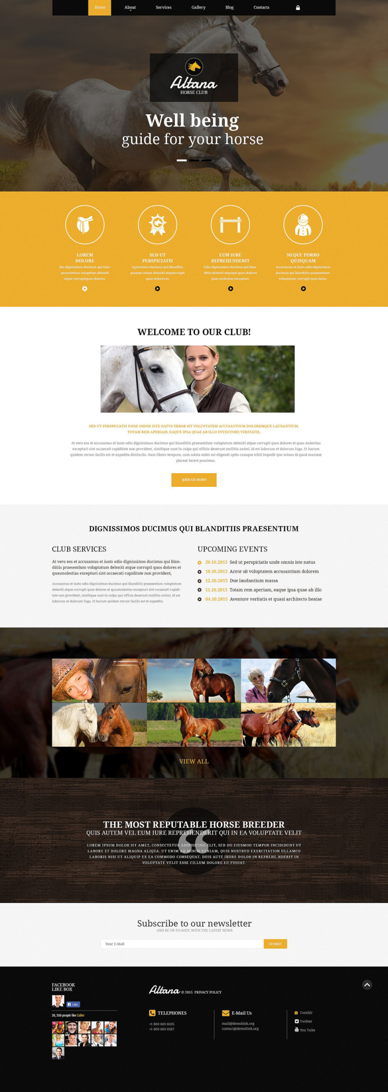 Horse Club Joomla Template New Screenshots BIG
