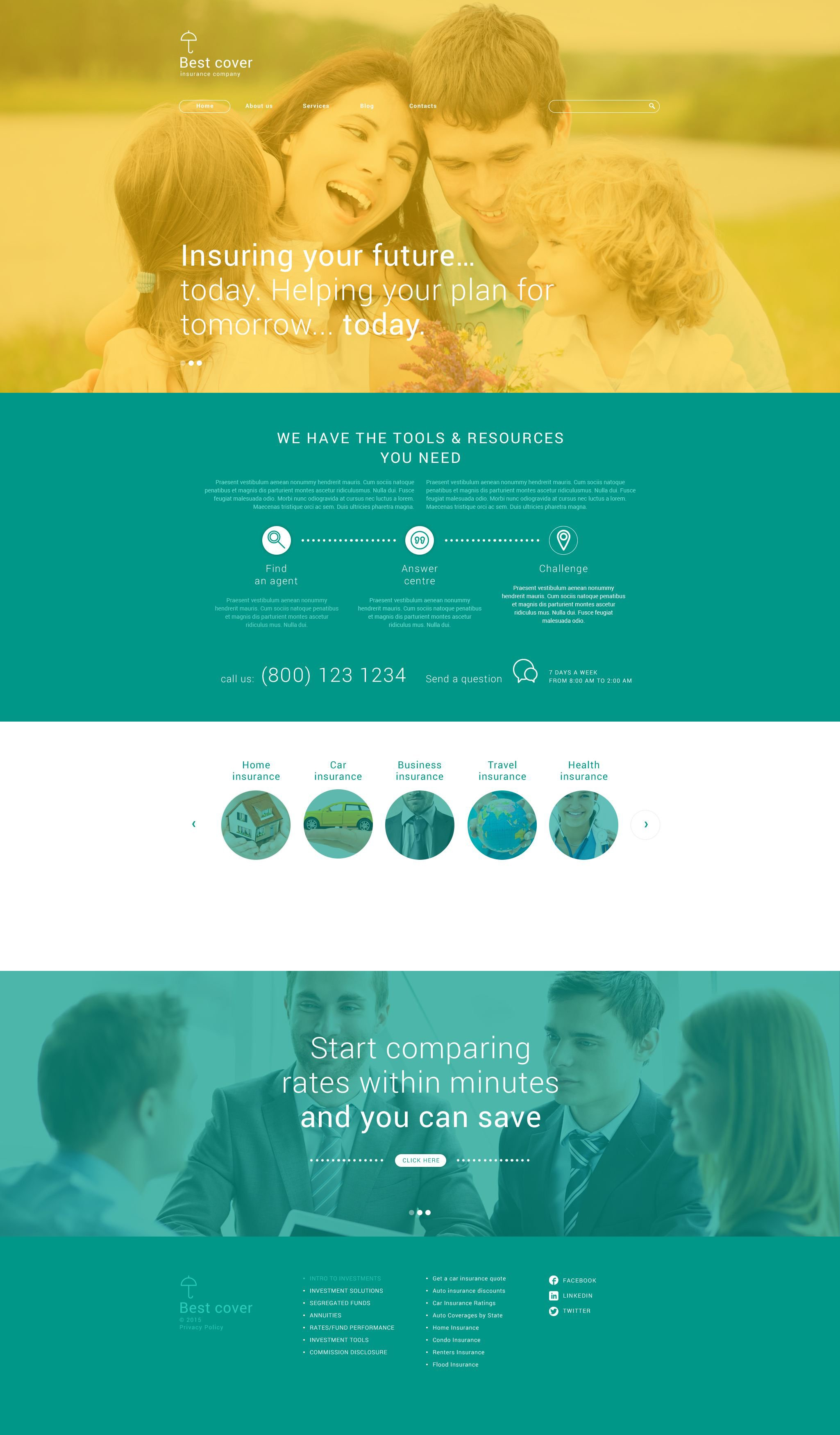 Insurance Company WordPress Theme