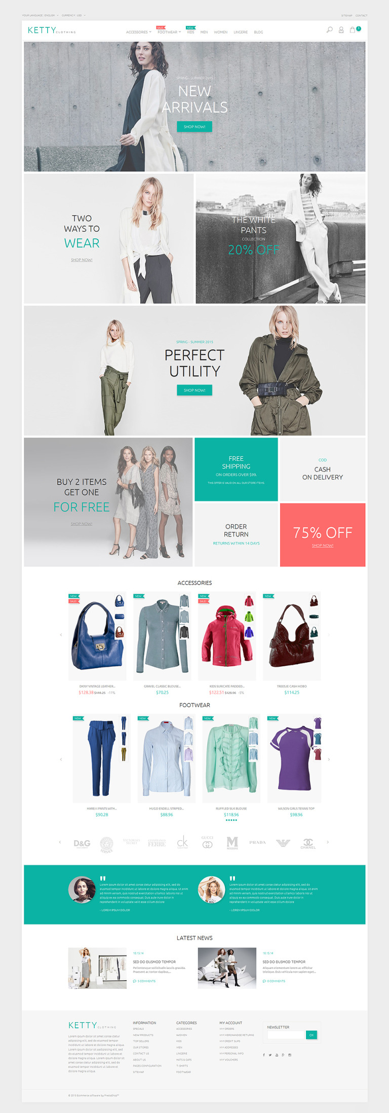 Ketty Clothing PrestaShop Theme New Screenshots BIG
