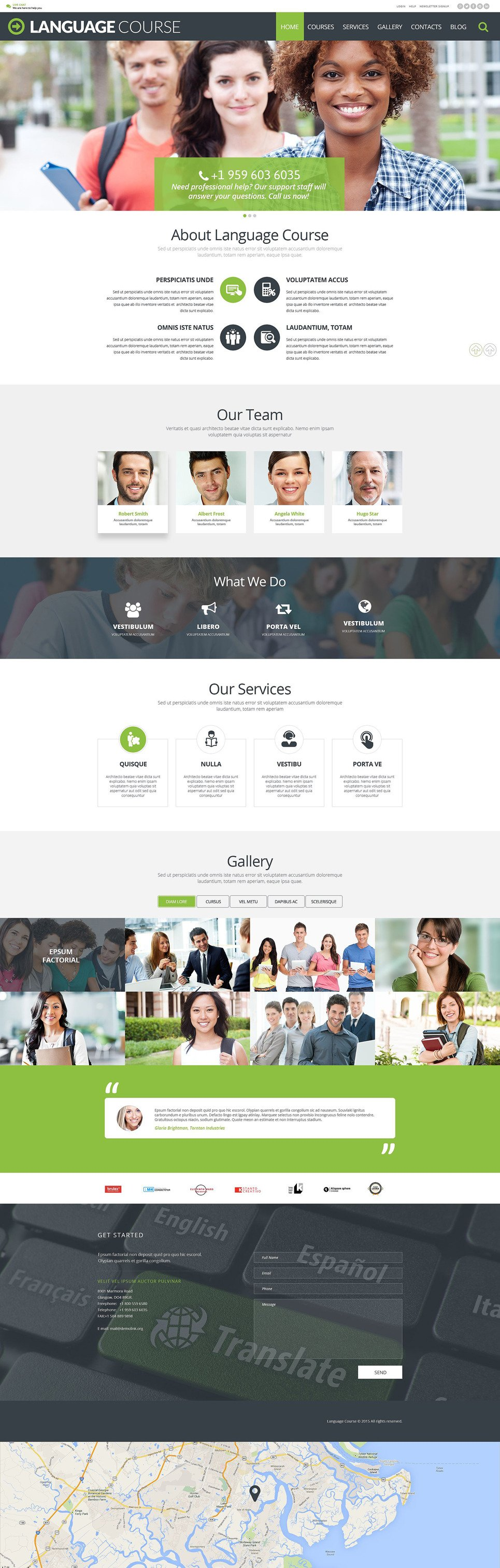 Language Course WordPress Theme New Screenshots BIG