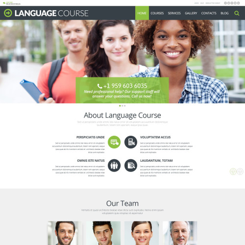 Language Course - WordPress Template based on Bootstrap