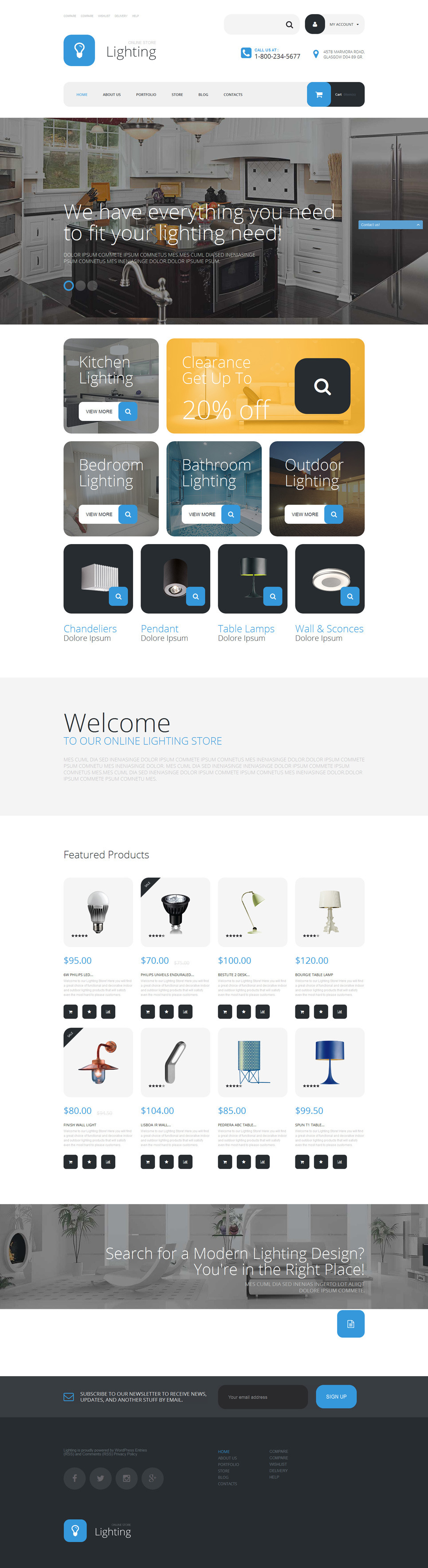 Lighting Store WooCommerce Theme New Screenshots BIG
