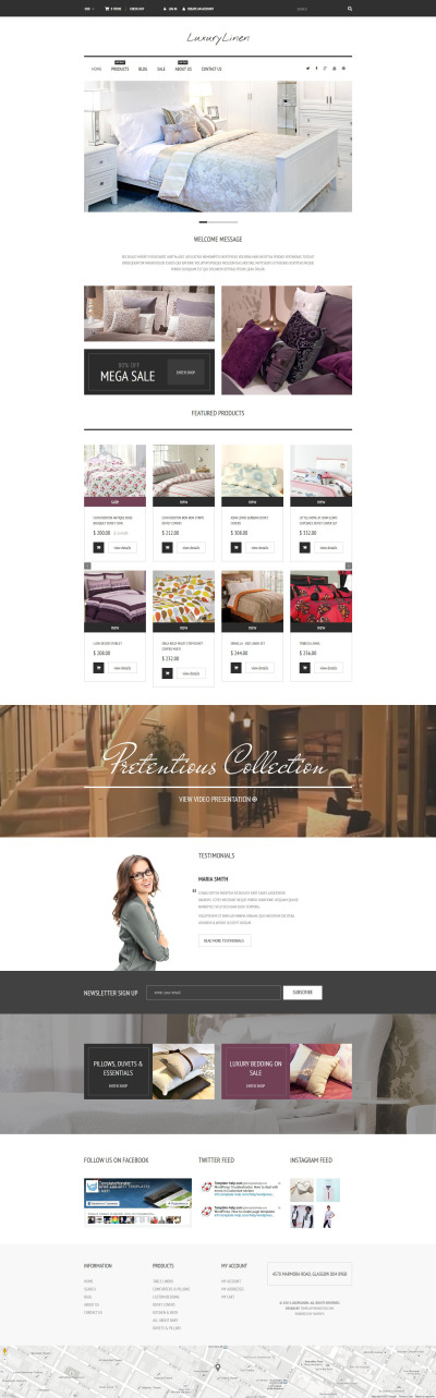 Linen & Lace Responsive Shopify Thema