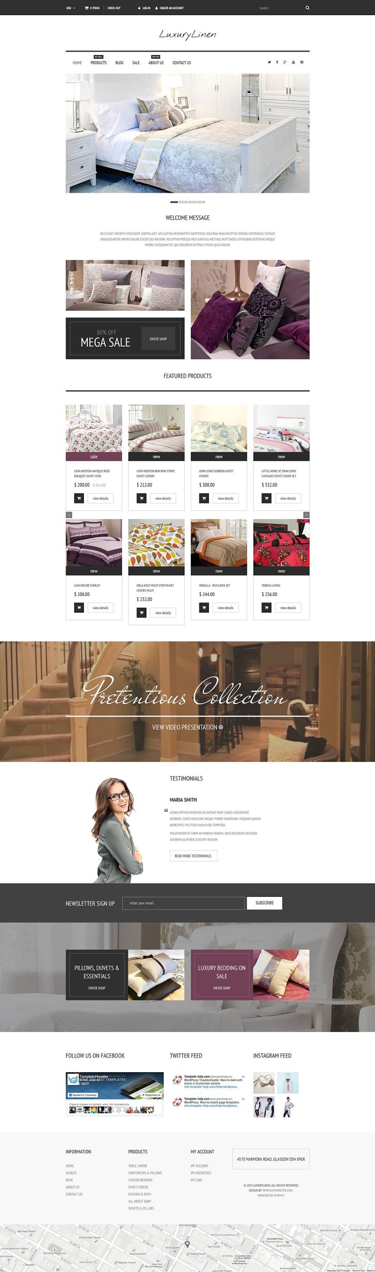 Linen Store Shopify Theme New Screenshots BIG