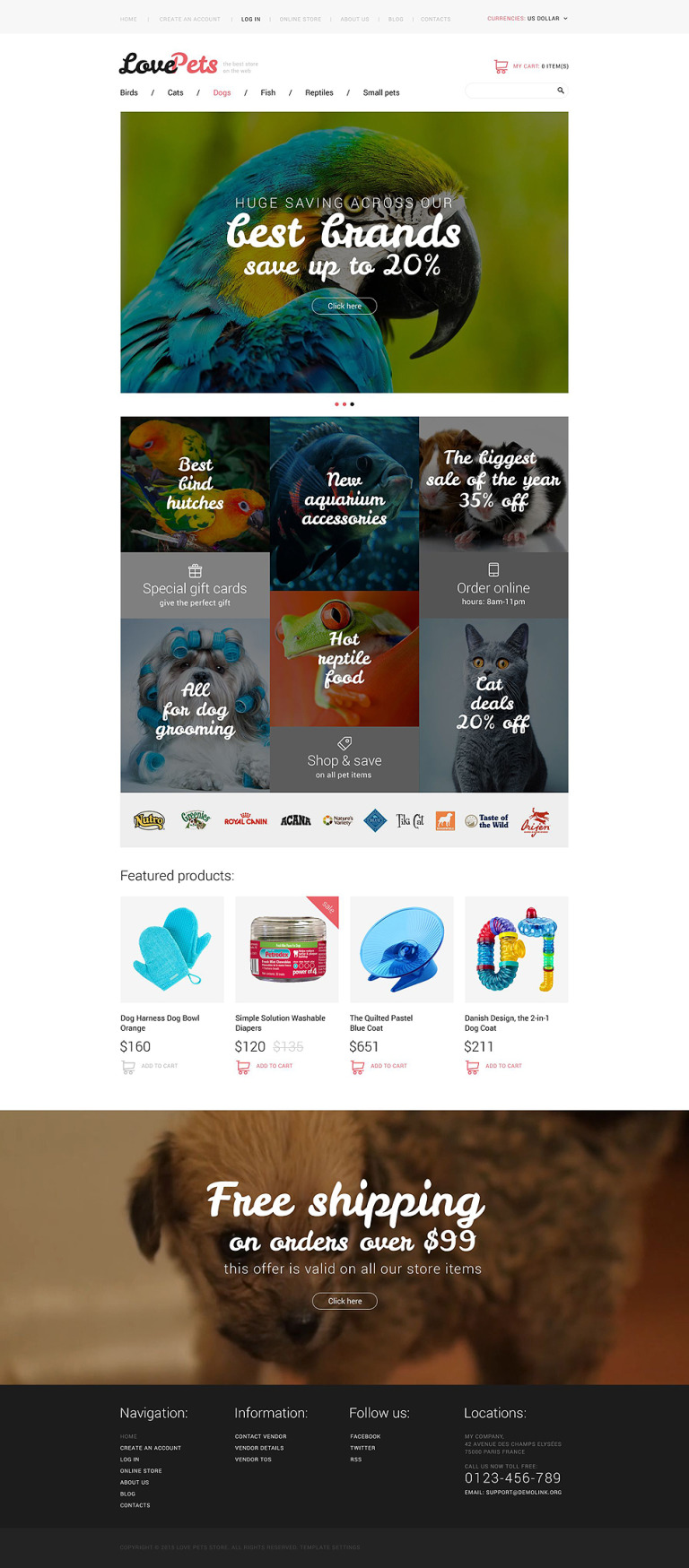 Love Pets VirtueMart Template New Screenshots BIG