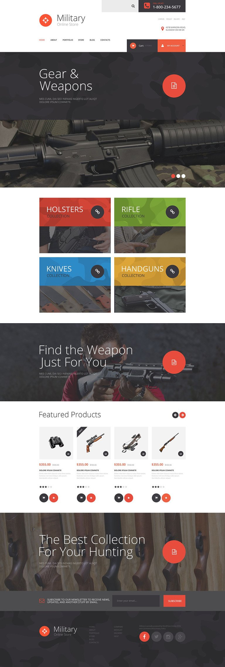 Military Store WooCommerce Theme New Screenshots BIG