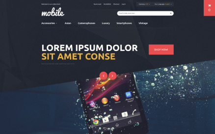 Mobile Phones and Accessories Magento Theme