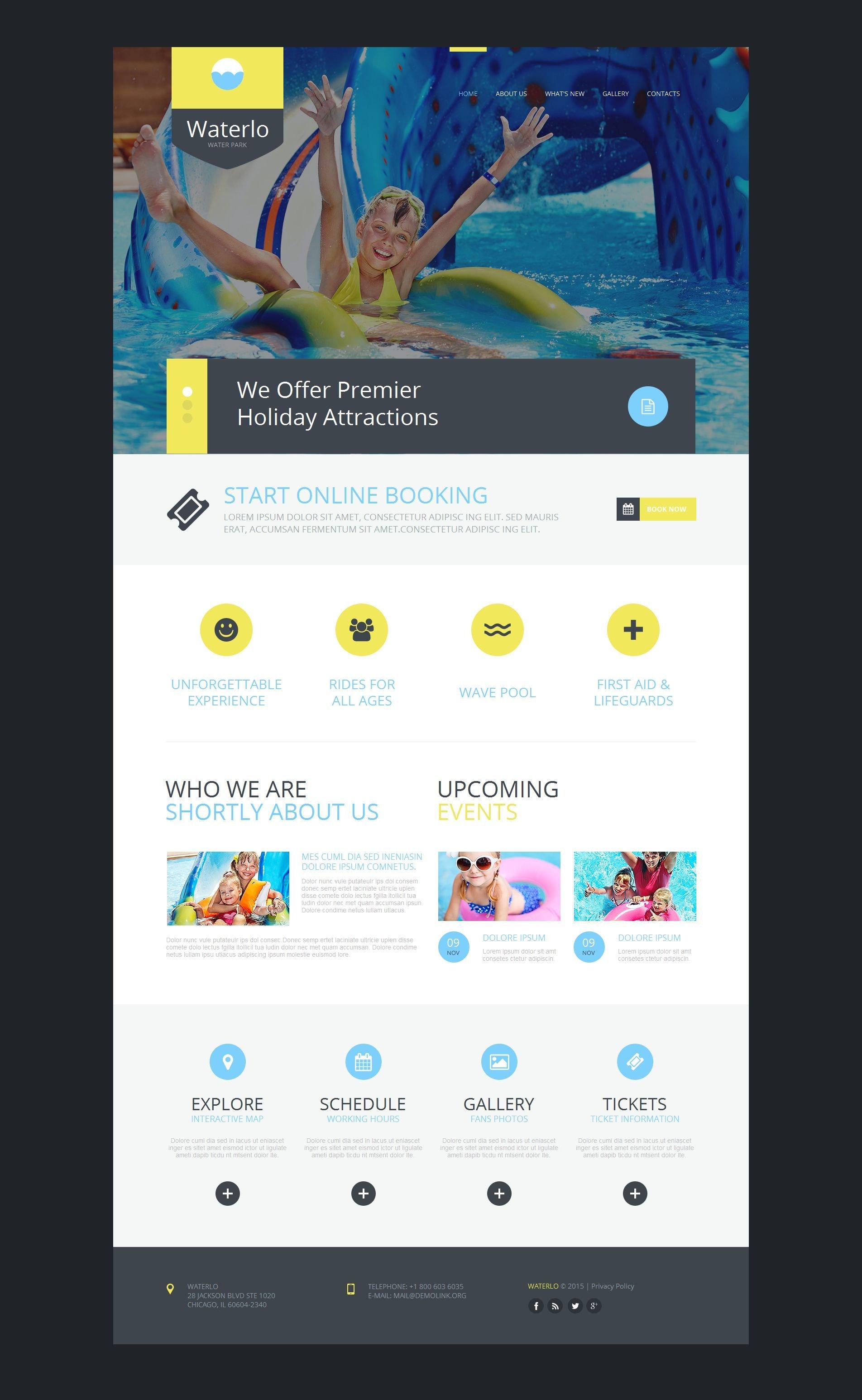 Modèle Moto CMS HTML Premium pour site de parc d'attractions #54915