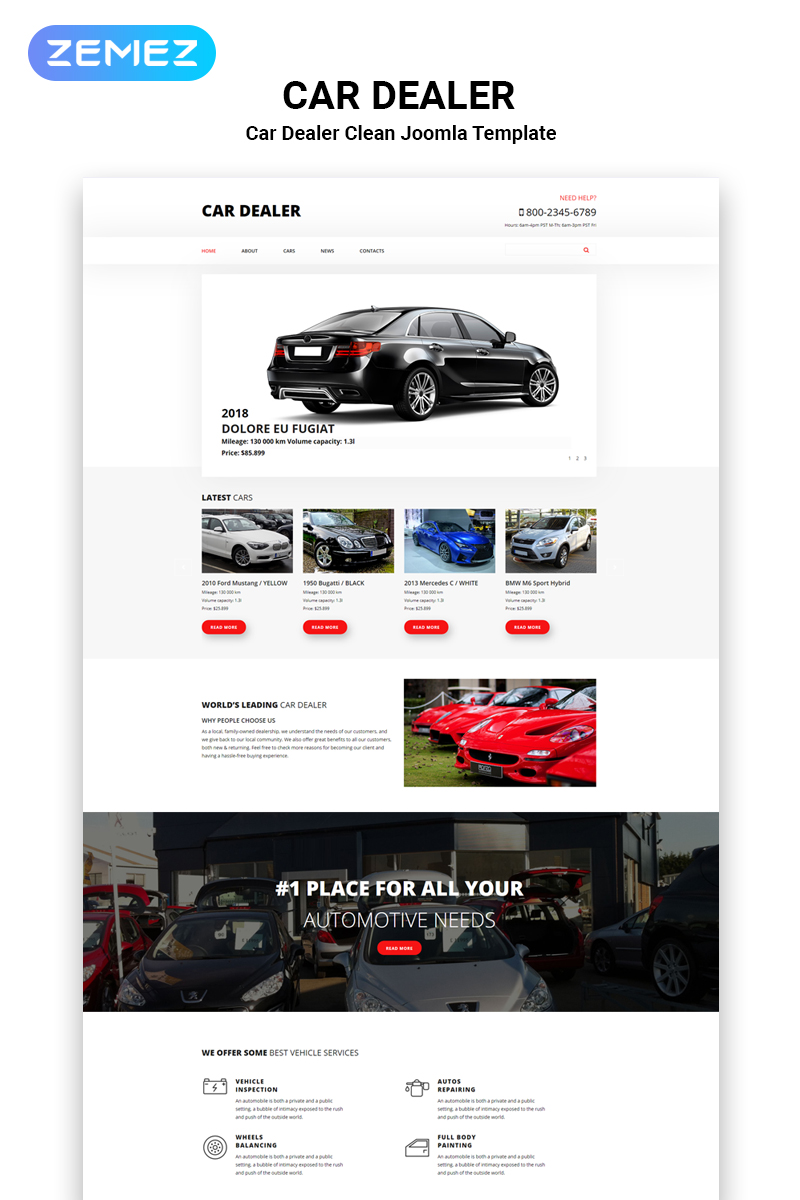 "Modello Joomla Responsive #54947 ""CarsNews - Cars Modern"""