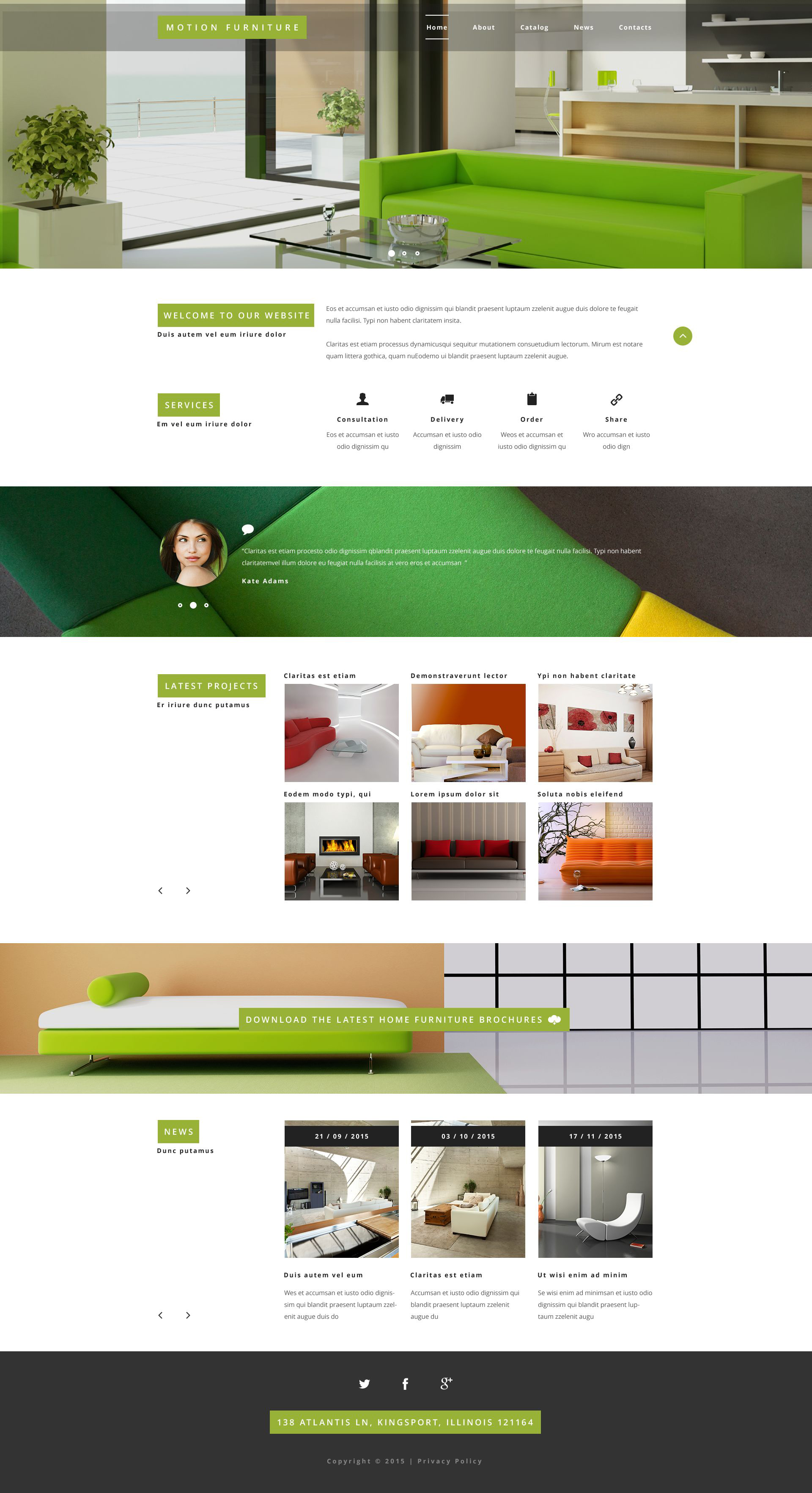 """Modello Siti Web Responsive #54995 """"Reclining Furniture"""""""