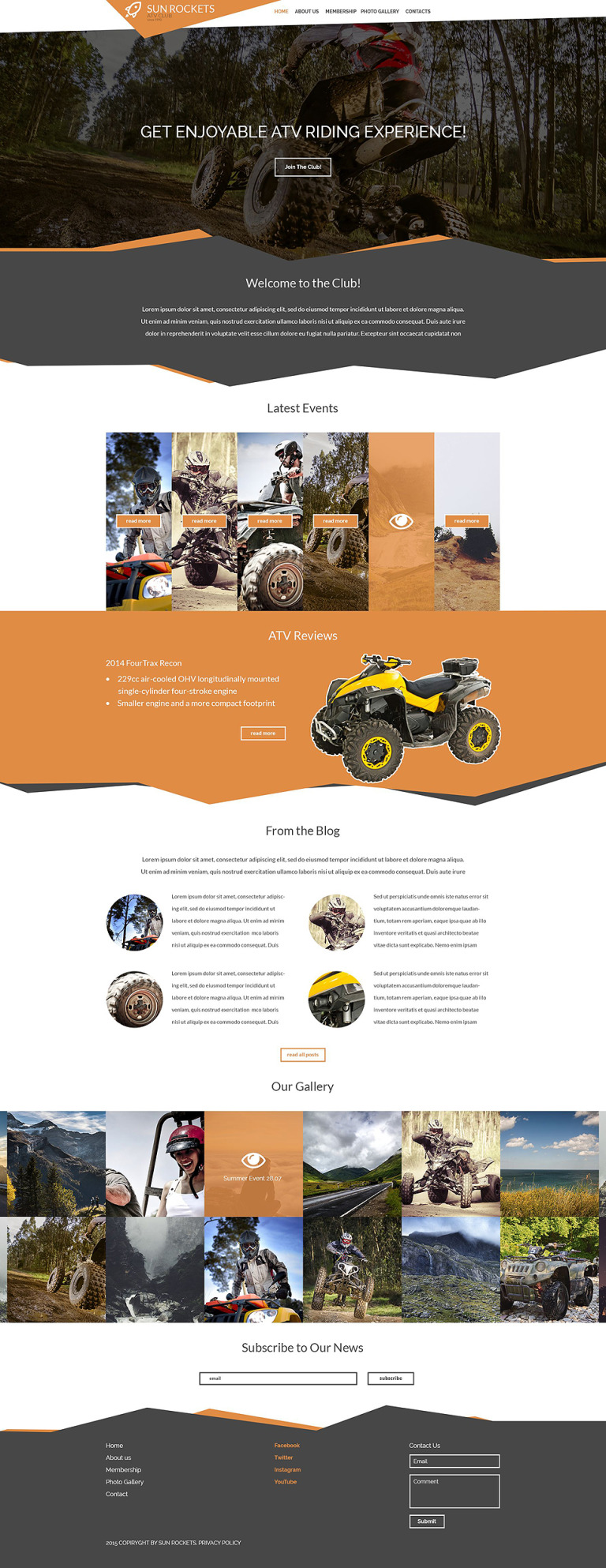 Motor Sports Responsive Website Template New Screenshots BIG