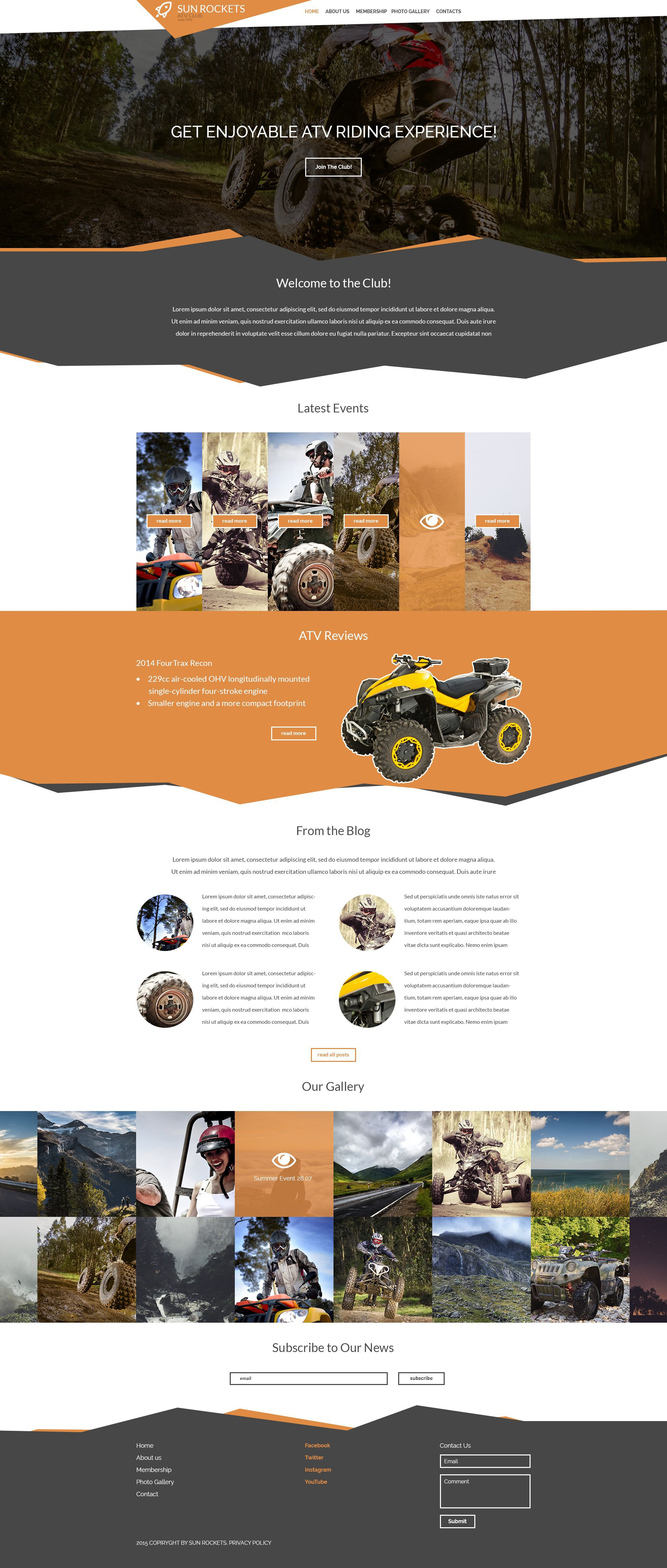 Motor Sports Responsive Website Template