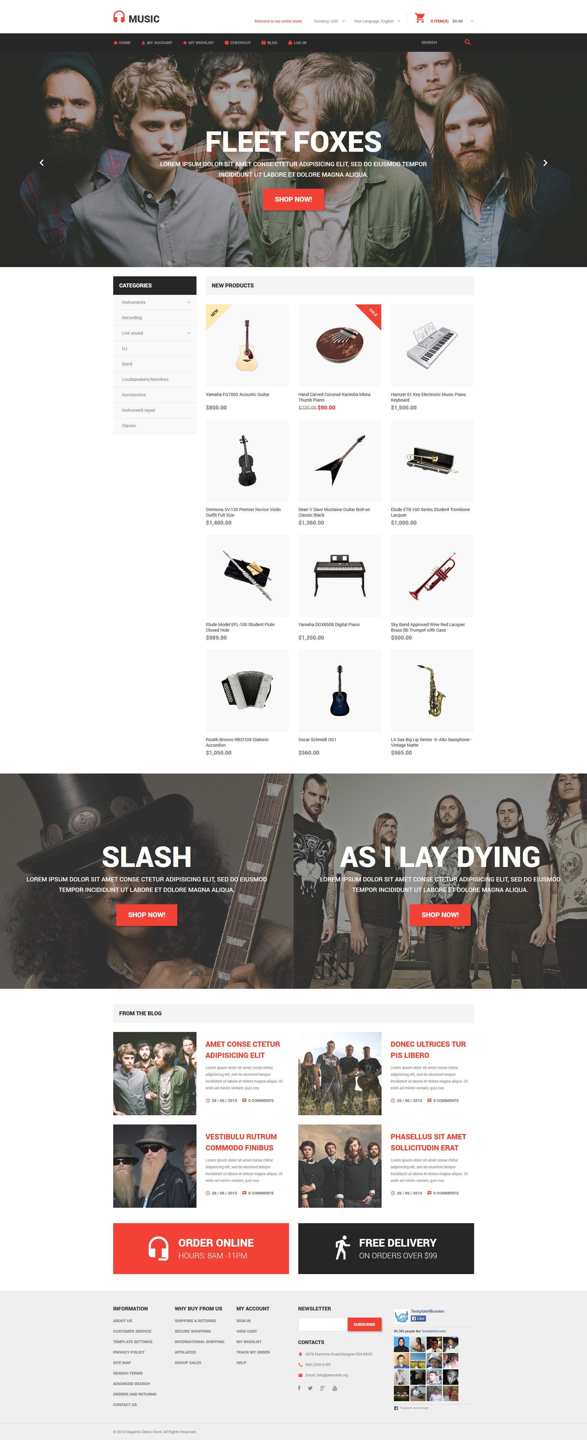 Music Store Magento Theme - screenshot