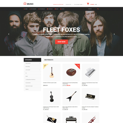 Music  - Magento Template based on Bootstrap