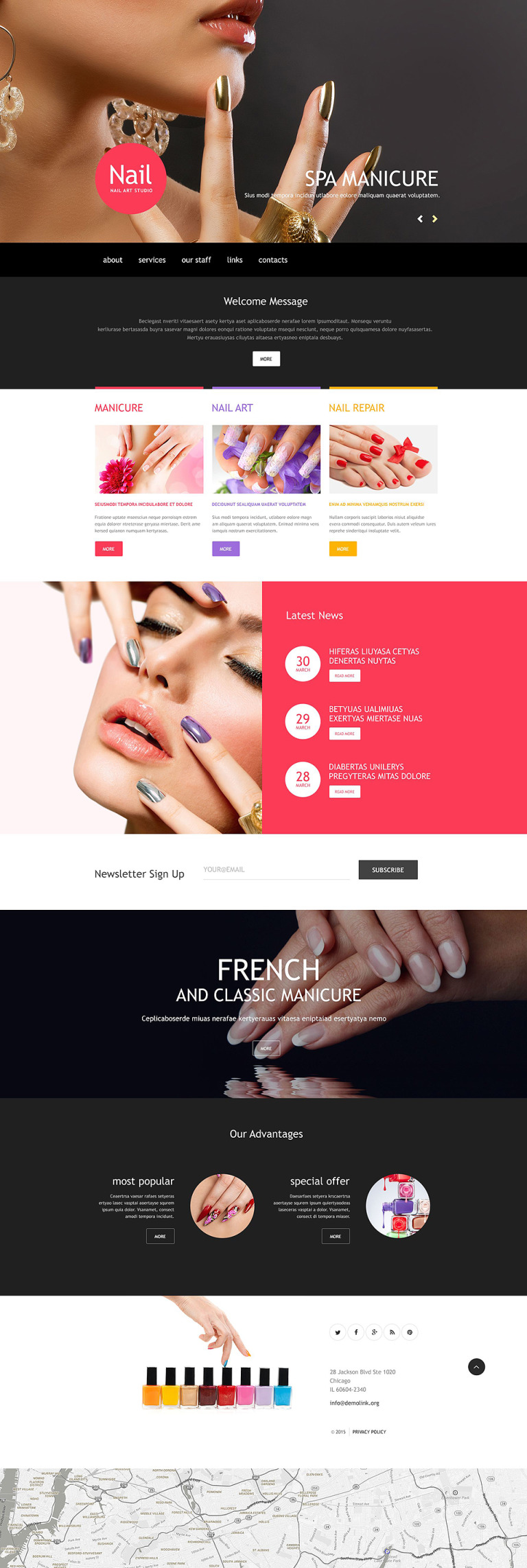Nail Salon Muse Template New Screenshots BIG