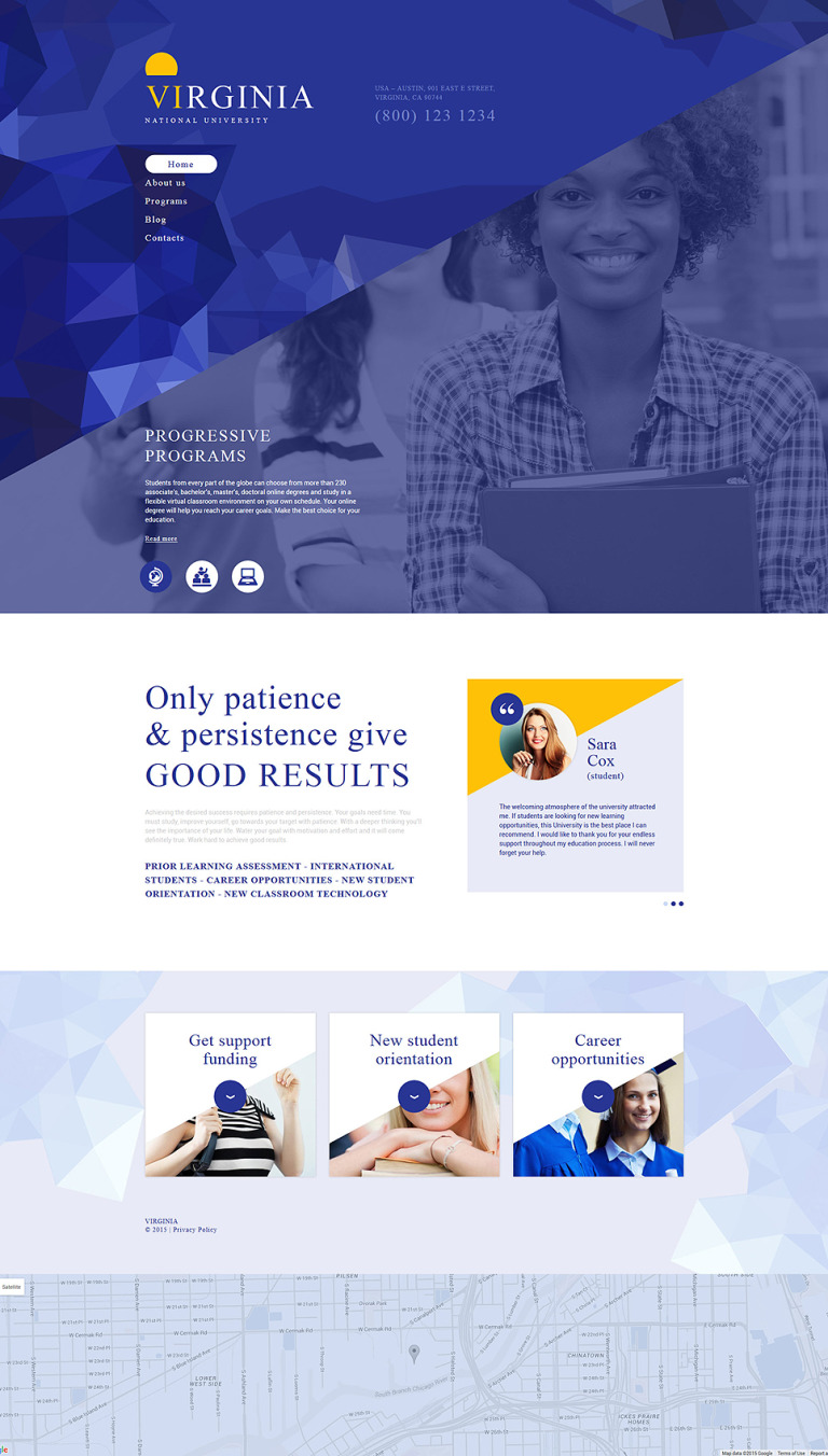 National University Drupal Template New Screenshots BIG