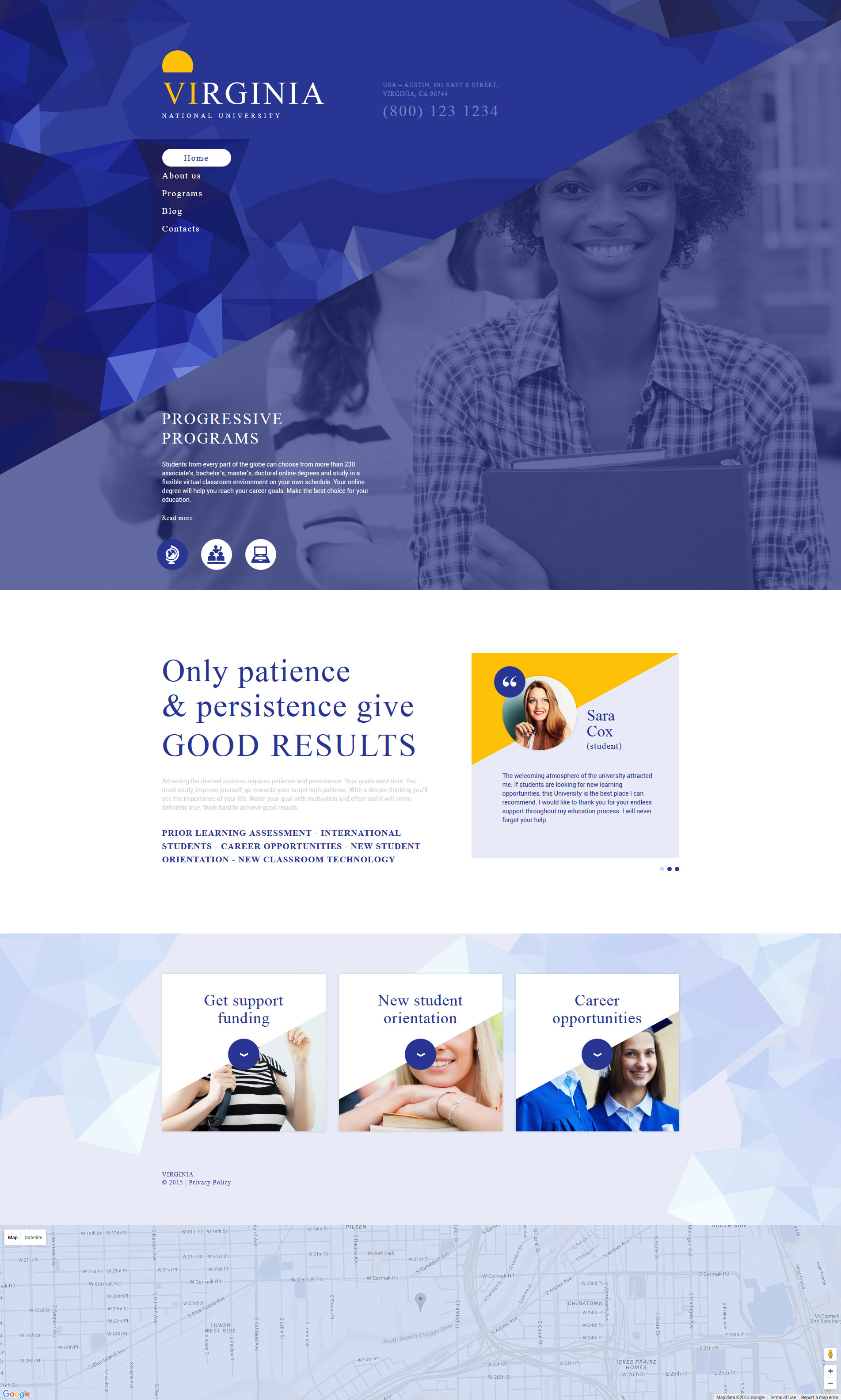 """National University"" Responsive Drupal Template №54964"