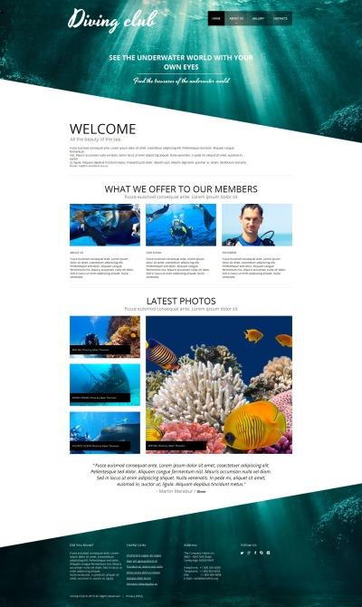 Plantilla Moto CMS HTML #54913 para Sitio de  para Sitio de Buceo