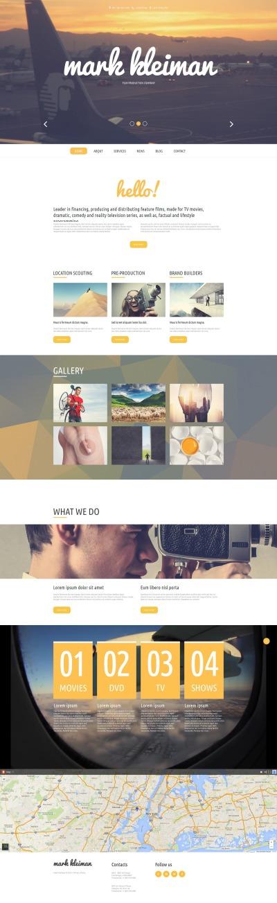 Plantilla Moto CMS HTML #54912 para Sitio de  para Sitio de Camarógrafos