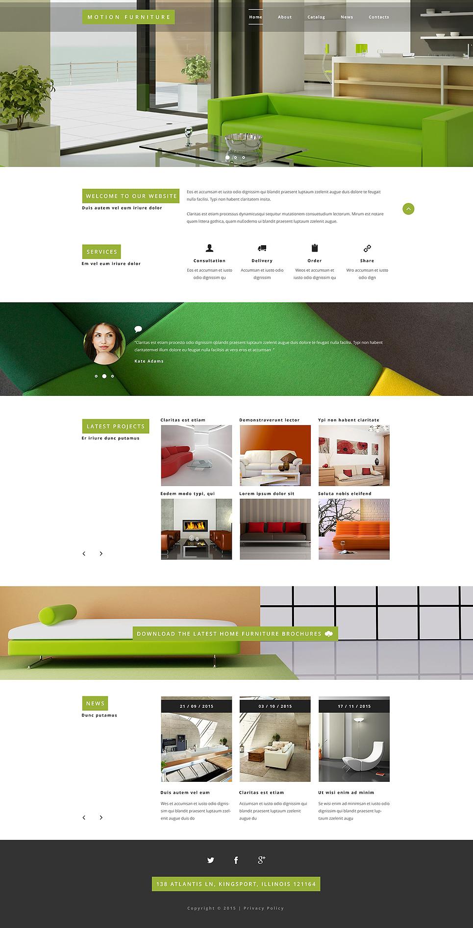 Plantilla web 54995 para sitio de muebles - Web de muebles ...