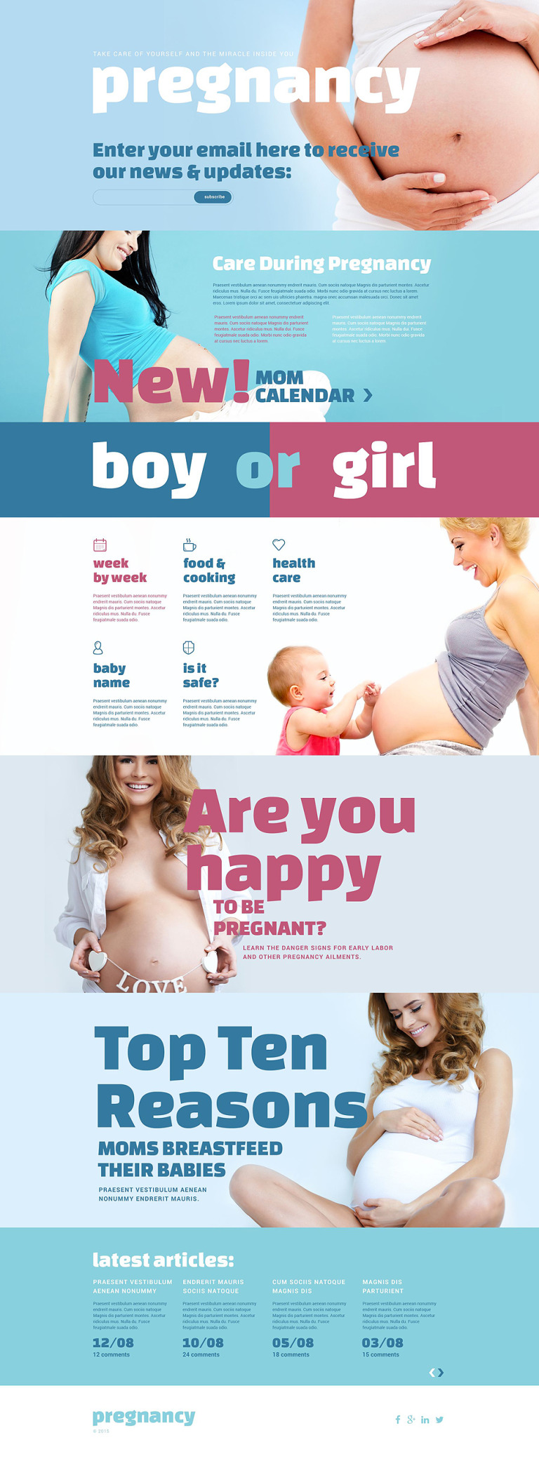 Pregnancy Responsive Landing Page Template New Screenshots BIG