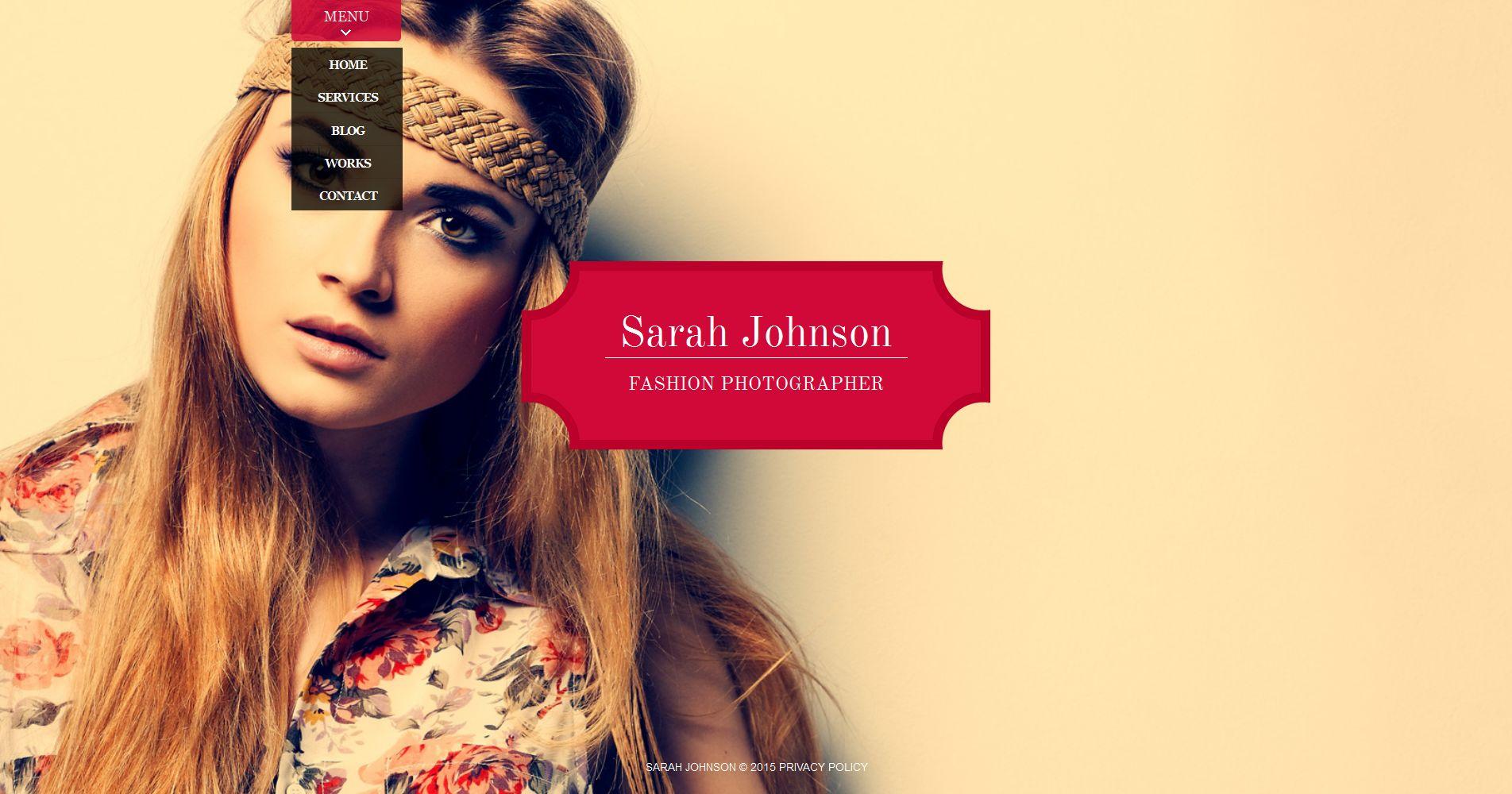 Premium Foto Galerij Template over Fotograaf portfolio №54921