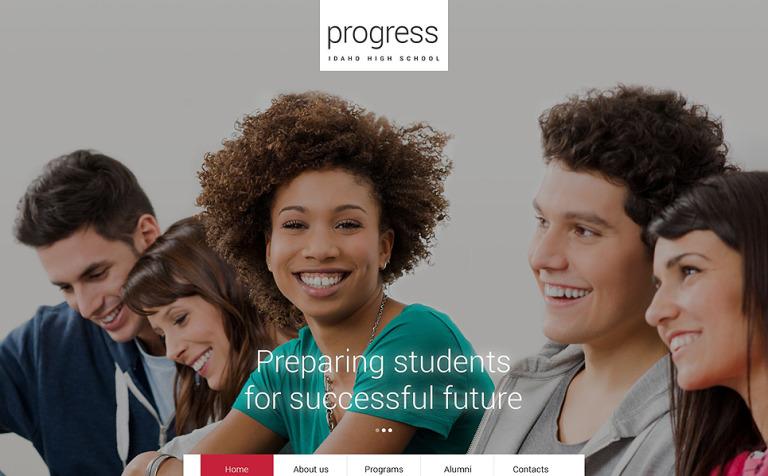 Progress Website Template